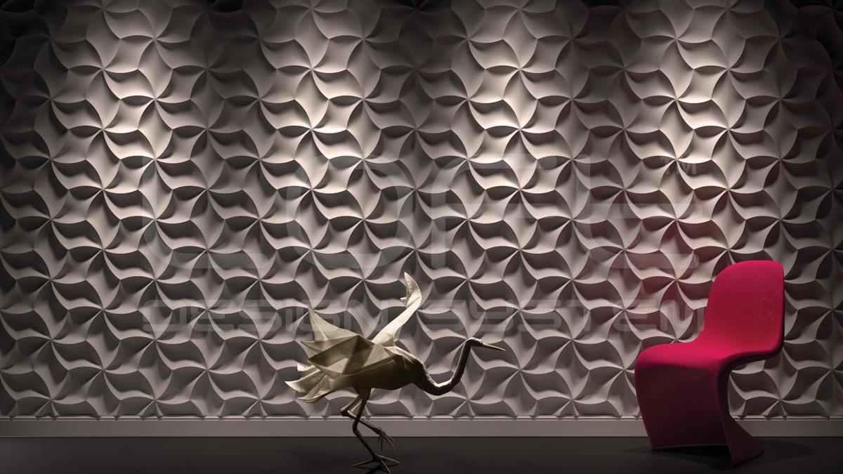 Meringue Gypsum Plaster 3D Wall Panels