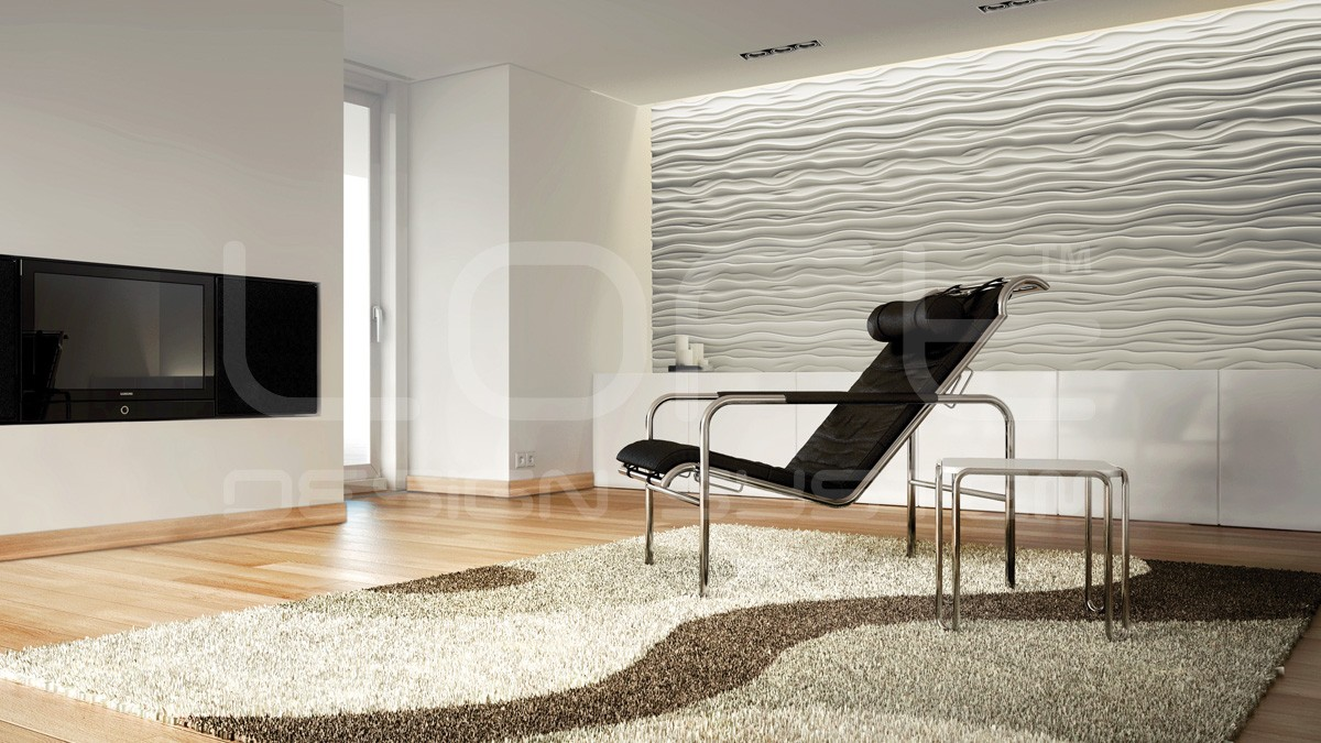 Stream Gypsum Plaster 3D Wall Panels