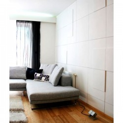 Double Square Flat 3D Wall Panels