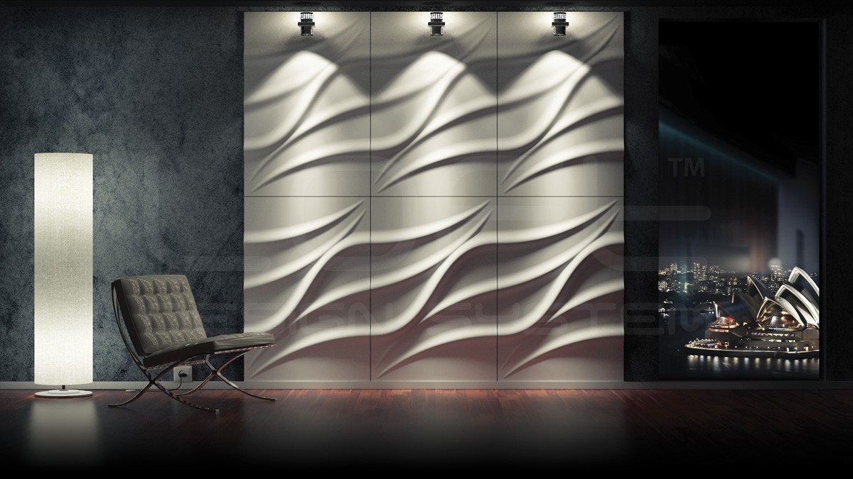 Tide Gypsum Plaster 3D Wall Panels
