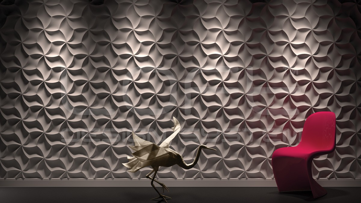 Meringue Gypsum Plaster 3D Wall Panels