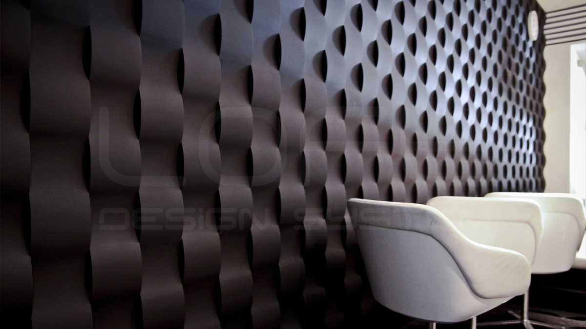 Twist Gypsum Plaster 3D Wall Panels