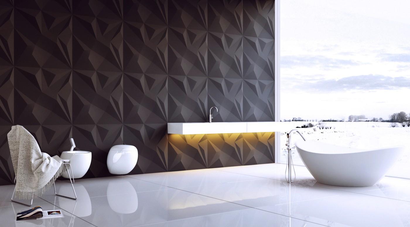 Denali Gypsum Plaster 3D Wall Panels